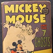 "1930's Mickey Mouse ""& The 7 Ghosts"" Big Little Book Nice Copy!"
