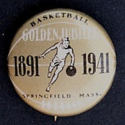 Basketball 1941 Golden Jubilee Pinback Button