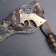 1950s Gene Autry Leslie Henry Cap Gun in Original Holster