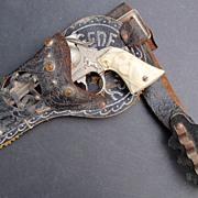 1950s Gene Autry Leslie Henry Cap Gun in Original Holster