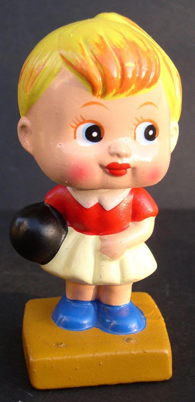 1950s Bowling Girl Compo Bobbing Head Nodder