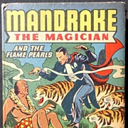 "Mandrake Magician ""The Flame Pearls"" 1946 Big Little Book Nice!"