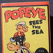 "Popeye ""Sees the Sea"" 1936 Big Little Book Very Nice Copy!"