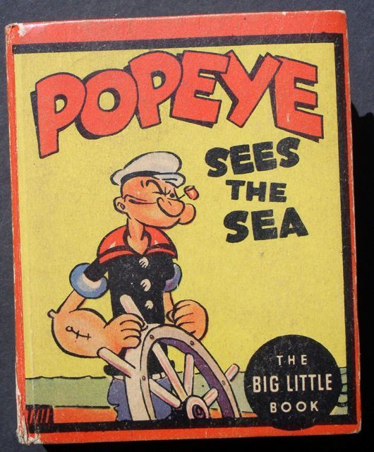 """Popeye """"Sees the Sea"""" 1936 Big Little Book Very Nice Copy!"""