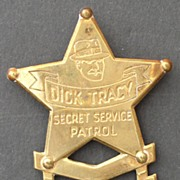 Dick Tracy 1938 Sergeant Brass Premium Badge