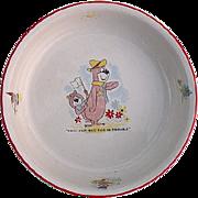 Yogi Bear Early 1960's English Ceramic Cereal Bowl