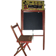 c. 1939 Walt Disney Productions Childs Chalk Board with Seat