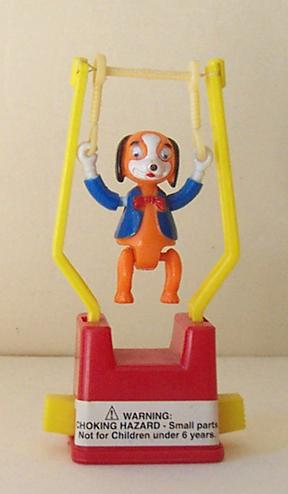 Vintage Swinger Trapeze Toy Googly Eye Dog