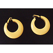 Pair Vintage 1930's Bakelite Chunky Hoop Earrings
