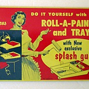 Vintage Advertising Tin Splash Guard Colorful Graphics