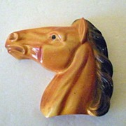 Vintage Chalk Horse Head Signed Miller Studio Dated 1951