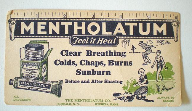 1930's Mentholatum Drug Store Advertising Ink Blotter