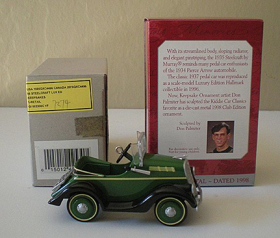 1998 Hallmark 1935 Steelcraft By Murray CLUB ornament