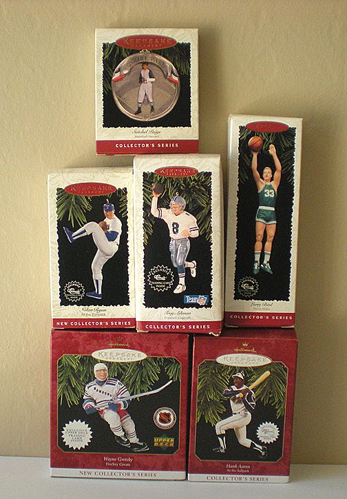 6) Vintage Hallmark Sports Ornaments Mint In Boxes from ...