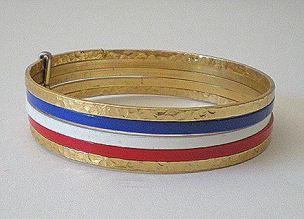 Set of 5 Metal Bangle Bracelets