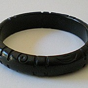 Vintage 1930's Carved Bakelite Bracelet