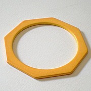 Octagon Cut BAKELITE Spacer Bracelet