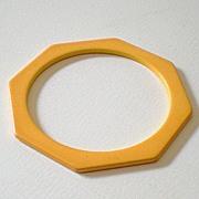 Octagon Cut BAKELITE Spacer Bracelet