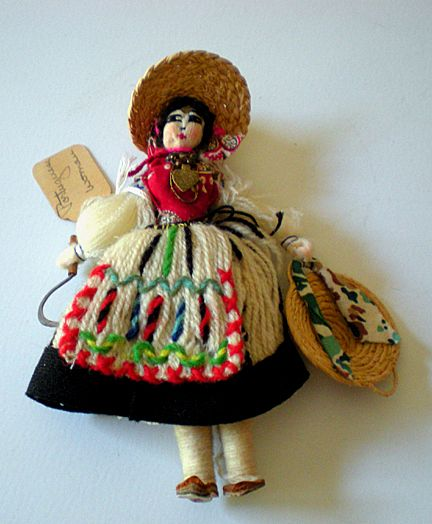 Vintage Hand Made Doll From Portugal