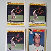 (4) Vintage Cal Ripken Jr. Baseball Cards 3 Error Cards