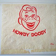 1950's  Howdy Doody Paper Bib  Never Used