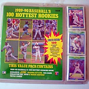 1989-90 Score Baseball's Hottest Rookies Book & 100 Cards