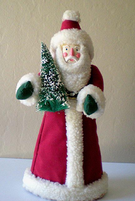 santa claus christmas tree topper folk art - Santa Christmas Tree Topper