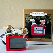 "1996 Hallmark Ornament LIGHT & MAGIC ""Video Party"""