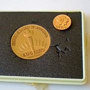 World's Fair Commemorative Medallion Set Osaka Japan 1970