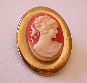 Pretty Vintage Faux Cameo Pin or Brooch