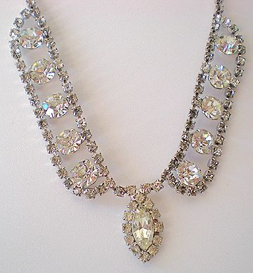 GORGEOUS Vintage Fancy Rhinestone Necklace