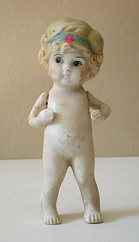 1920's Bisque Doll 4&1/2 Inch Cutie Pie
