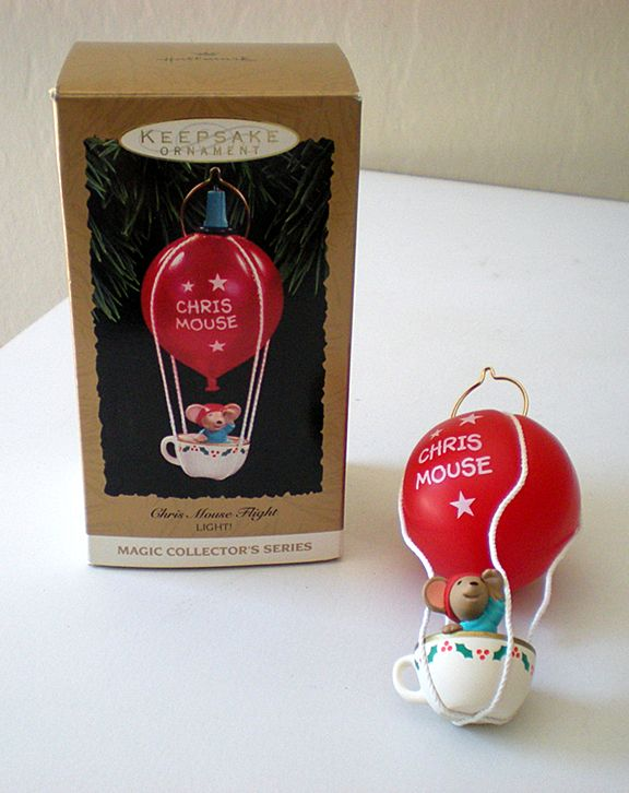Hallmark Ornament Chris Mouse Flight 1993 Light w/ Light MIB