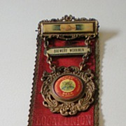 Antique Brewery Union Pinback Ribbon