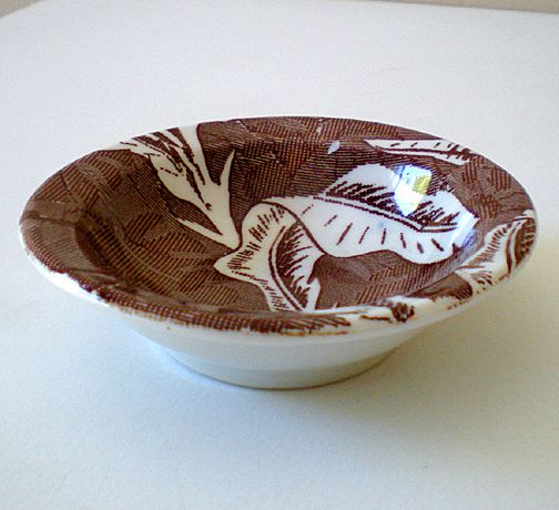 Vintage Tepco Berry Bowl Brown Hawaiian Bananaleaf