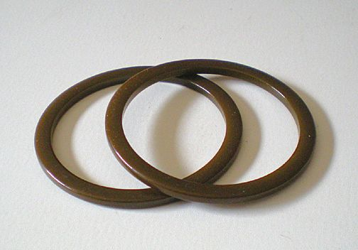 Matched Pair 1930's Bakelite Spacer Bracelets