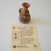 Miniature Hand Made Representation of Ancient Peruvian Pot