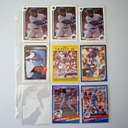 (8) Ken Griffey Jr. Baseball Trading Cards