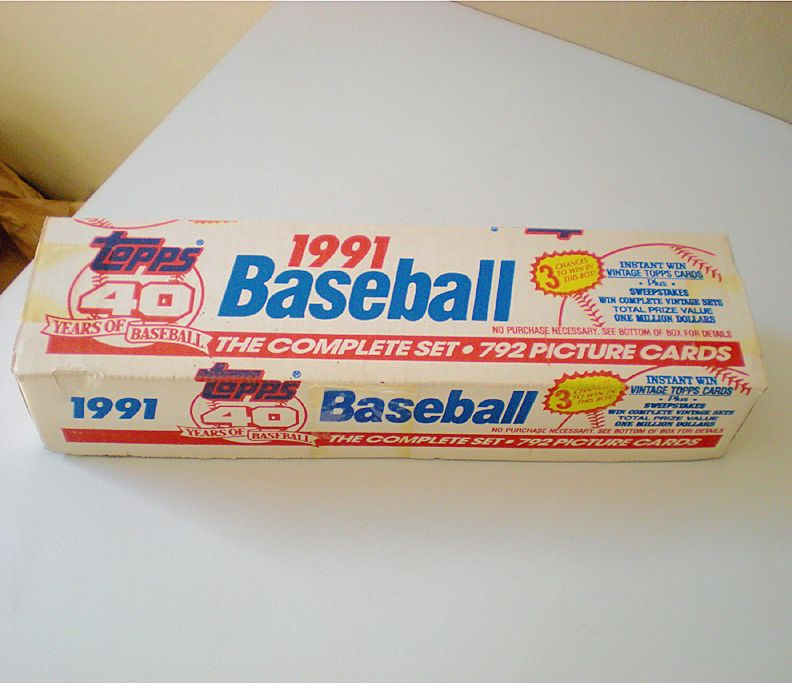 Complete Set Factory Sealed 1991 Topps Baseball