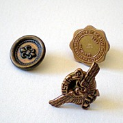 (2) Pinbacks Navy Reserve & Credit Managers Association