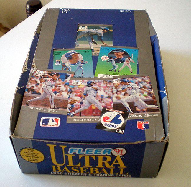 Full Box of 1991 Fleer Ultra Baseball Cards Sealed Foil Packs