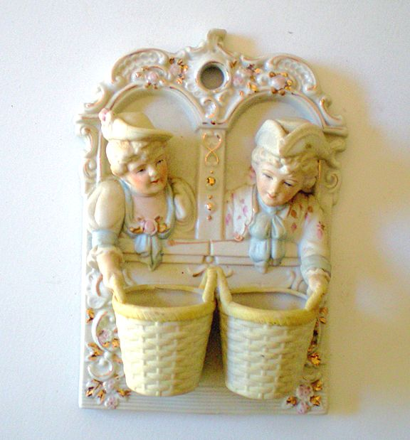Lovely Victorian Figural Wall Matches Holder