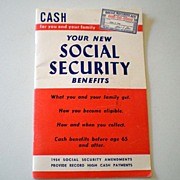 1954 Social Security Handbook Interesting!