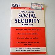 1954 Social Security Handbook Interesting!