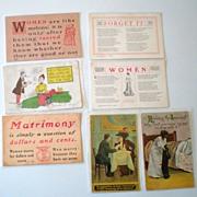 (7) Old Postcards Women's Interest