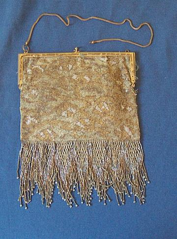 Antique Micro Beaded Purse Mini Metal Beads