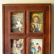 (4) Victorian Postcards Nicely Framed