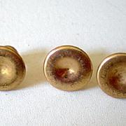 Set of (3) Matching Gold Filled Men's Studs