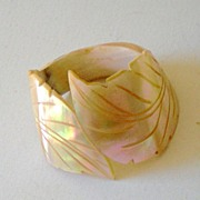 Large Carved Mother Of Pearl Napkin Ring