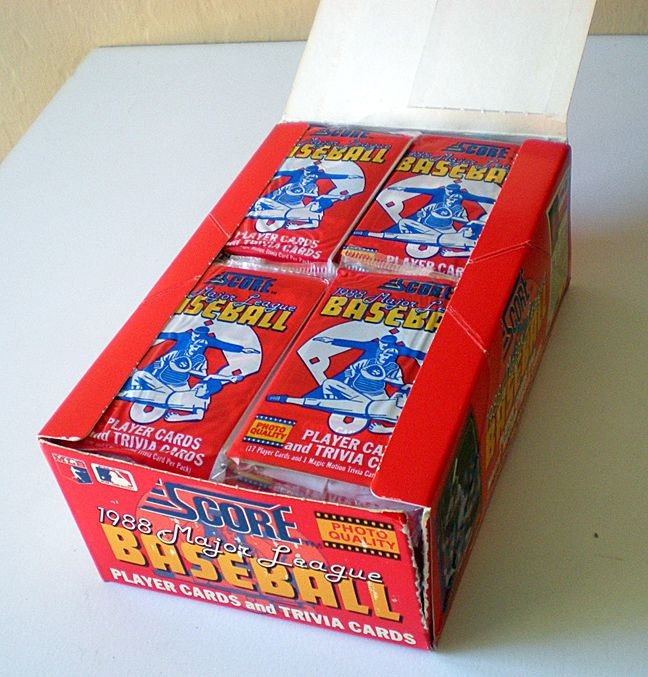 Full Box 1988 Score Baseball Cards 36 Packs